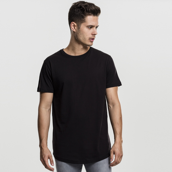 Pánské tričko Urban Classics Shaped Long Tee black - XL