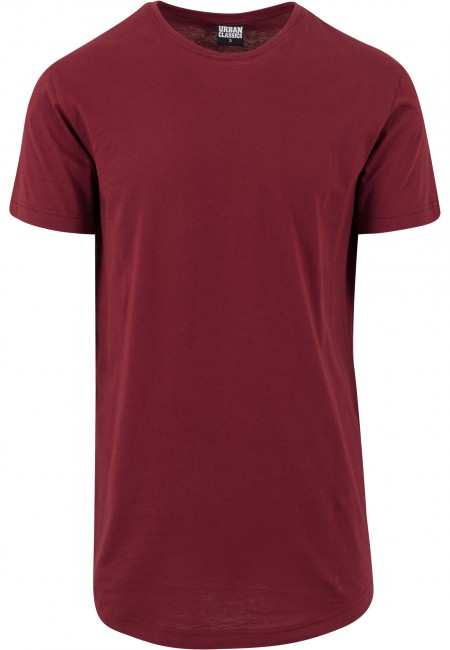 Pánské tričko Urban Classics Shaped Long Tee burgundy - M