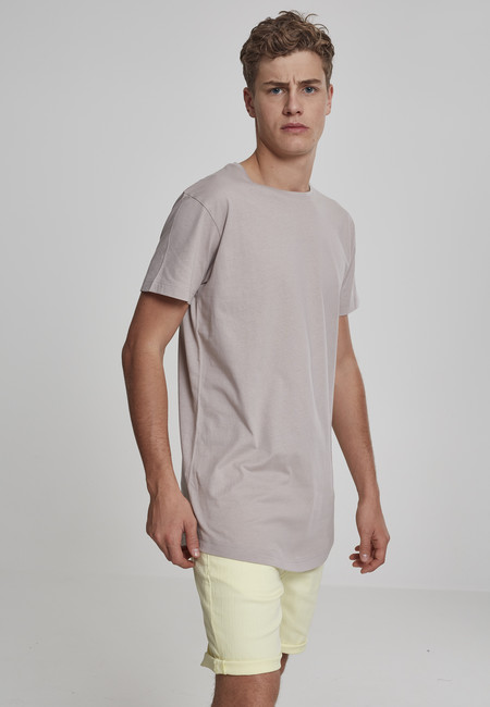 Urban Classics Shaped Long Tee cloud - M