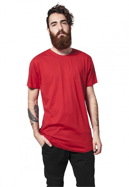 Pánské tričko Urban Classics Shaped Long Tee fire red - M
