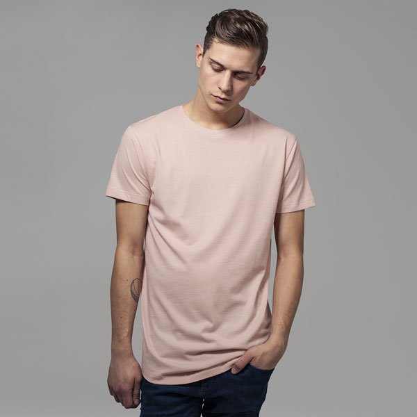 Pánské tričko Urban Classics Shaped Long Tee light rose - M