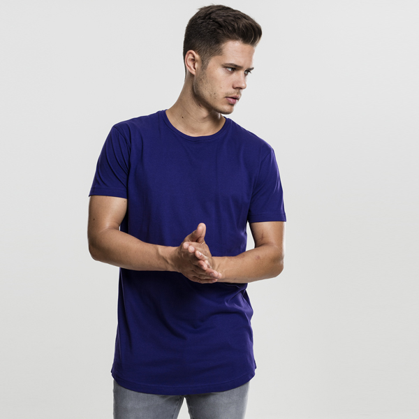 Pánské tričko Urban Classics Shaped Long Tee regal purple - M