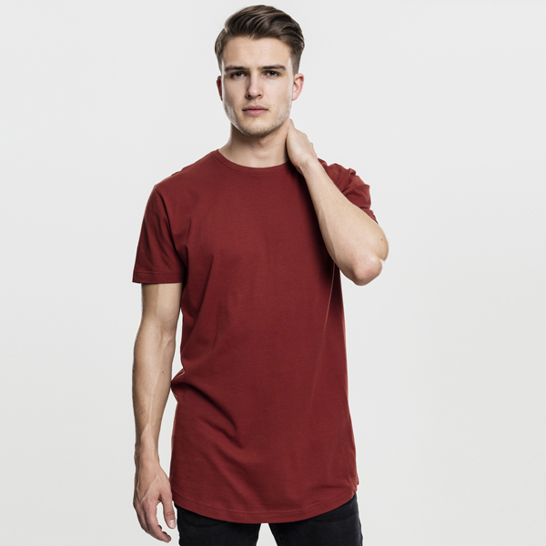 Pánské tričko Urban Classics Shaped Long Tee rusty - M