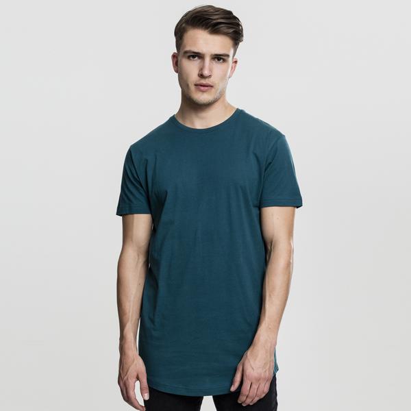 Pánské tričko Urban Classics Shaped Long Tee teal - M