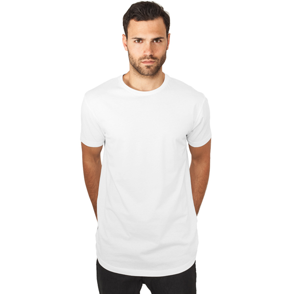 Pánské tričko Urban Classics Shaped Long Tee white - M