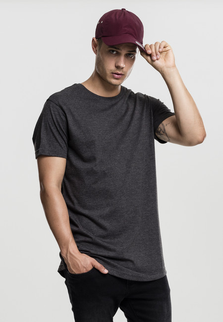 Tričko Urban Classics Shaped Melange Long Tee charcoal - M