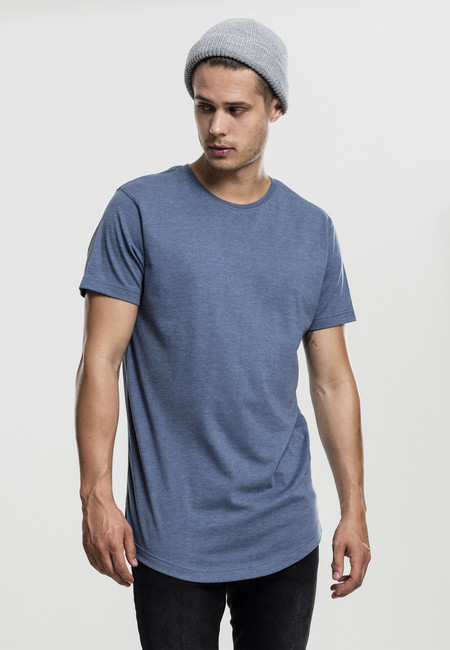 Tričko Urban Classics Shaped Melange Long Tee stone blue - M