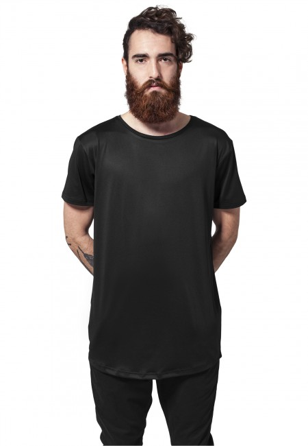 Urban Classics Shaped Neopren Long Tee black - M