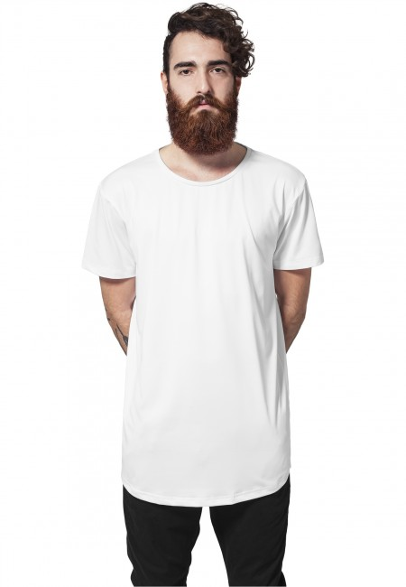 Urban Classics Shaped Neopren Long Tee white - M