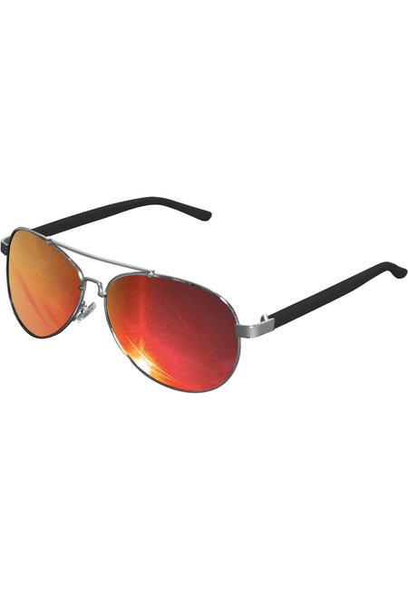 Urban Classics Sunglasses Mumbo Mirror silver/red - UNI