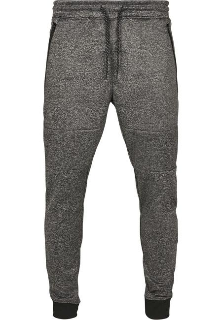 Urban Classics Zipper Pocket Marled Tech Fleece Jogger marled black