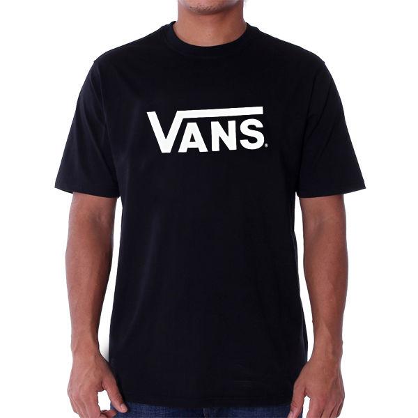 Pánské Tričko Vans MN Vans Classic T-shirt Black White ... 42a6aad879