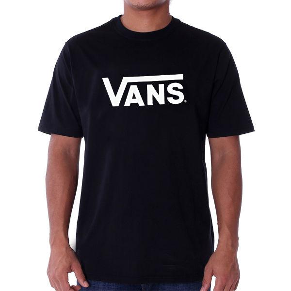 Pánské Tričko Vans MN Vans Classic T-shirt Black White - L