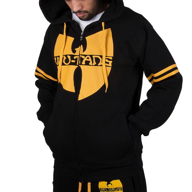 Panská Mikina Wu-Wear Wu Tang Clan 36 Zip Hoodie Black Yellow - L