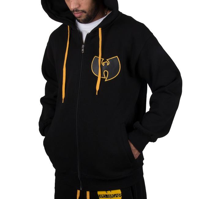 Panská Mikina Wu-Wear Wu Tang Clan WU Protect Ya Neck Zip Hoodie Black Gold - M